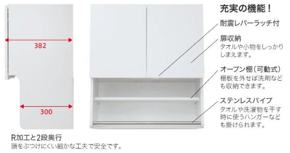 洗濯機上部吊戸棚 KMSシリーズ(アイオ産業)